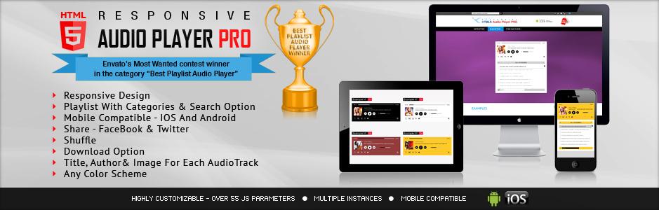 Shoutcast & Icecast HTML5 Radio Player With Playlist