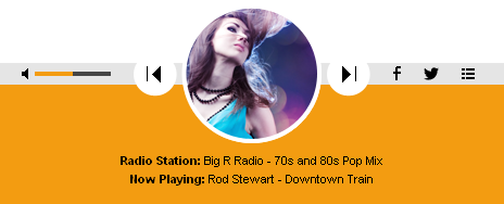 Shoutcast & Icecast HTML5 Radio Player With Playlist