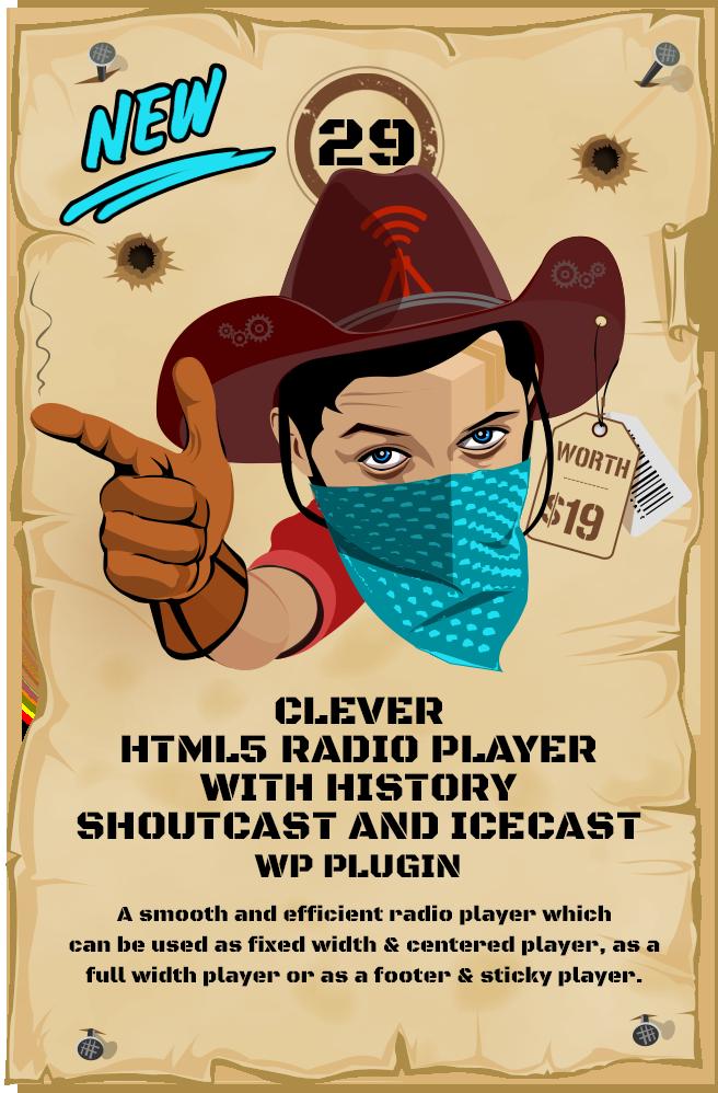 Clever Shoutcast Radio Player - WordPress Plugin