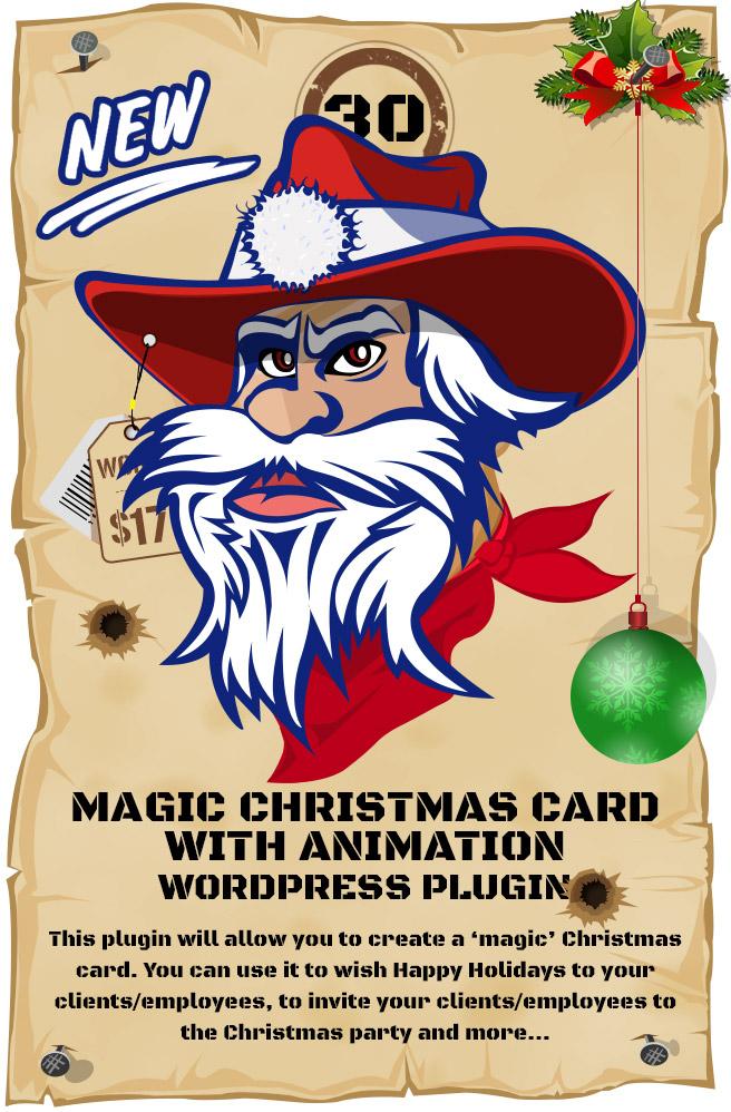Magic Christmas Card With Animation - WordPress Plugin