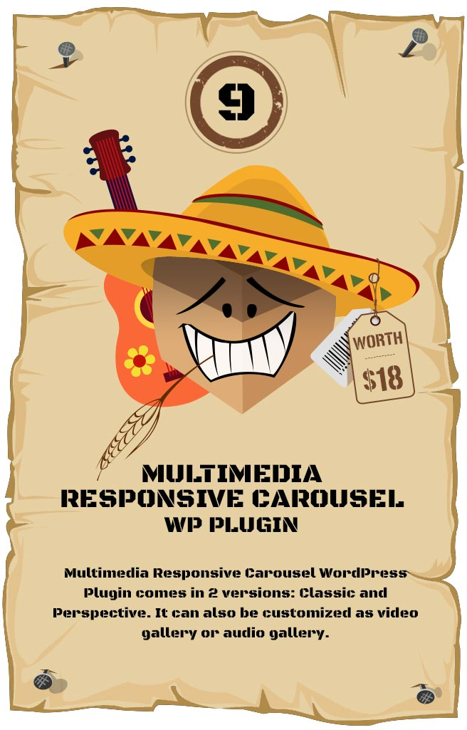 Multimedia Responsive Carousel WordPress Plugin