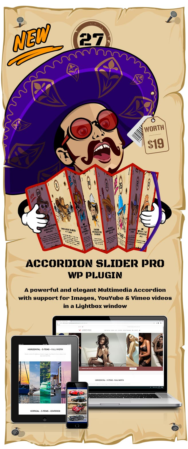 Accordion Slider PRO - Responsive Image And Video WordPress Plugin