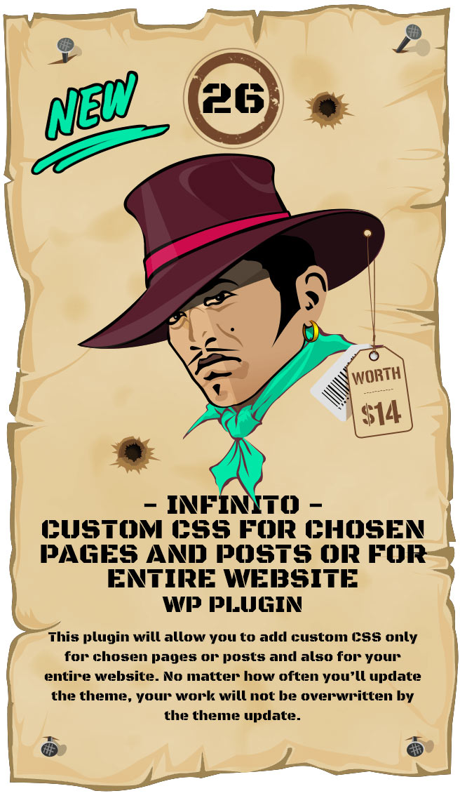 INFINITO - Custom CSS for Chosen Pages and Posts or for Entire Website - WordPress Plugin